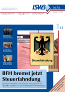 LSWB info 1/2013 - BFH bremst jetzt Steuerfahndung