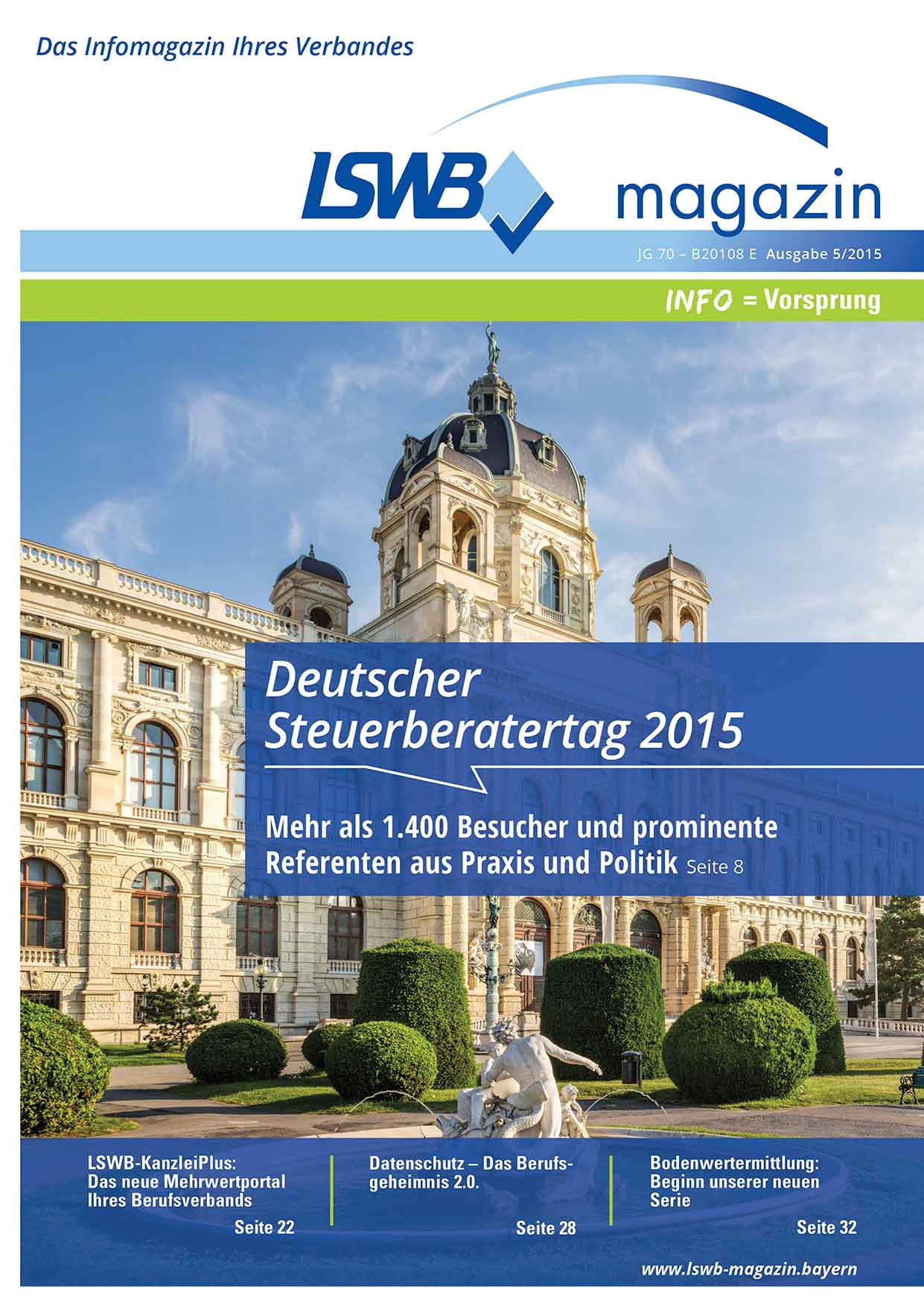 LSWB-Magazin 5/2015: Deutscher Steuerberatertag
