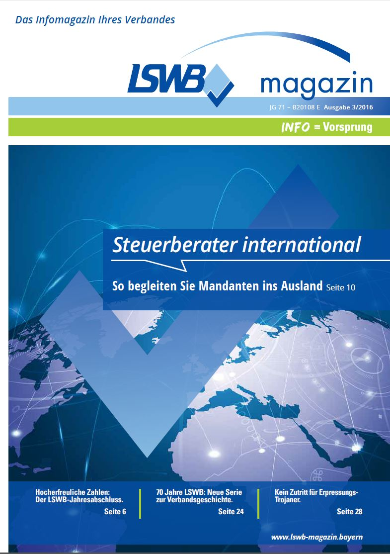 LSWB-Magazin 3/2016 - Steuerberatung international